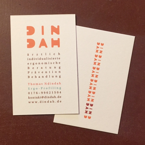 business card - dindah